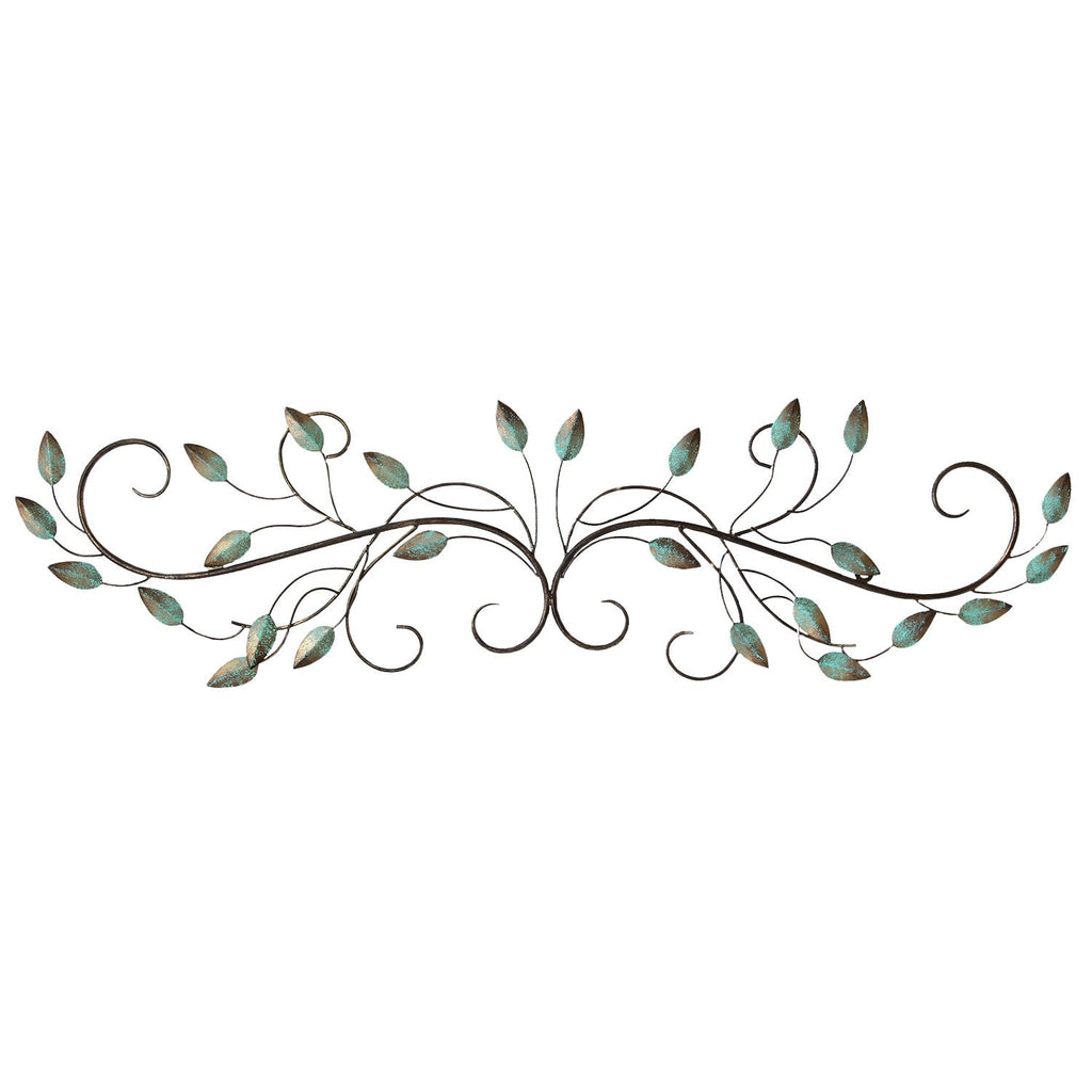 Patina Scrolled Leaf Wall Decor