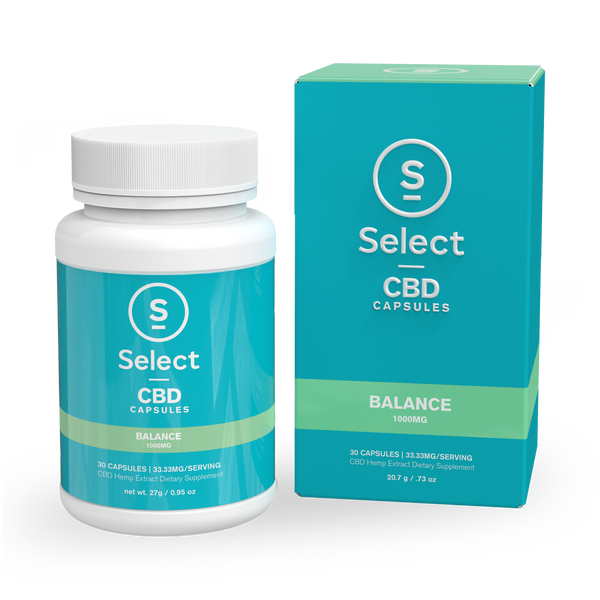 Balance | CBD Gel Capsules - 1000mg - Select CBD®
