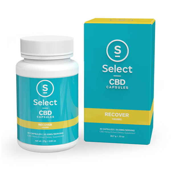 Recover | CBD Gel Capsules - 1000mg - Select CBD®