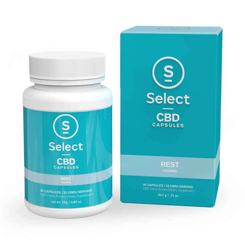 Rest | CBD Gel Capsules - 1000mg - Select CBD®