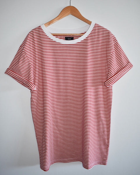 Vintage Striped T Shirt - Red
