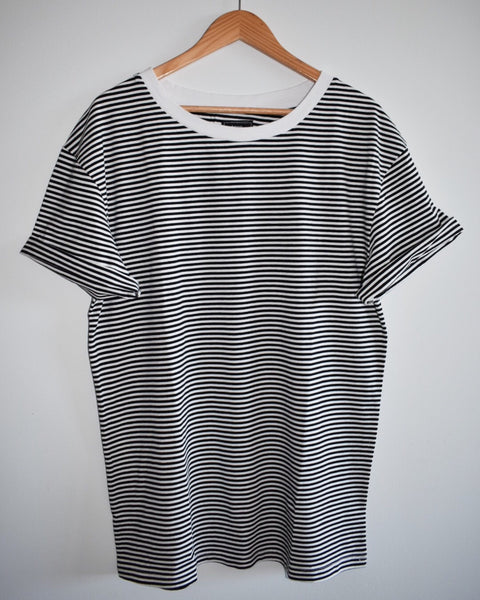 Vintage Striped T Shirt - Black