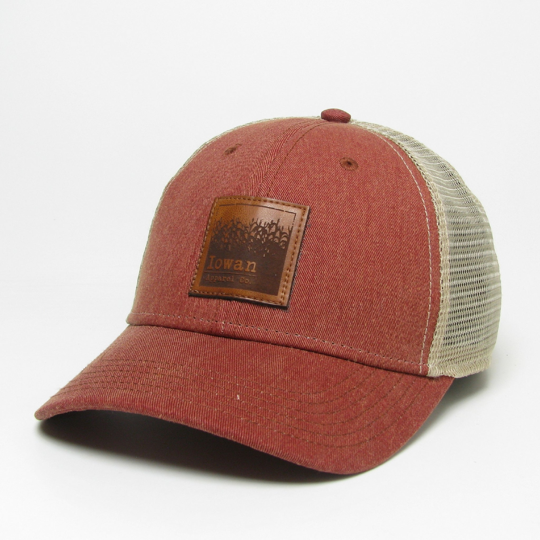 Washed Structured Cap- Cardinal