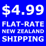 $4.99 flat rate New Zealand wide shipping on your total order