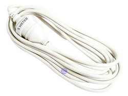 5 Meter White NZ 3 Pin Mains Power Extension Cable Cord 5m Lead - techexpress nz