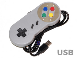 Classic USB Super Nintendo SNES Controller for Windows PC Apple MAC Pi RetroPie - techexpress nz