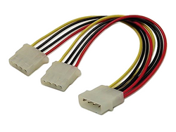 4 Pin Molex to 2x 4 Pin Molex Power Connector Cable Splitter Converter Adapter - techexpress nz
