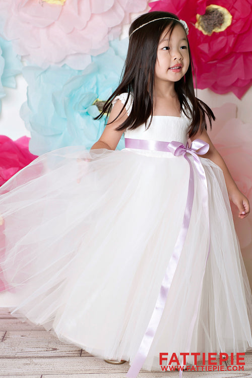 Elastic Straps Lace EML Flower girl dress