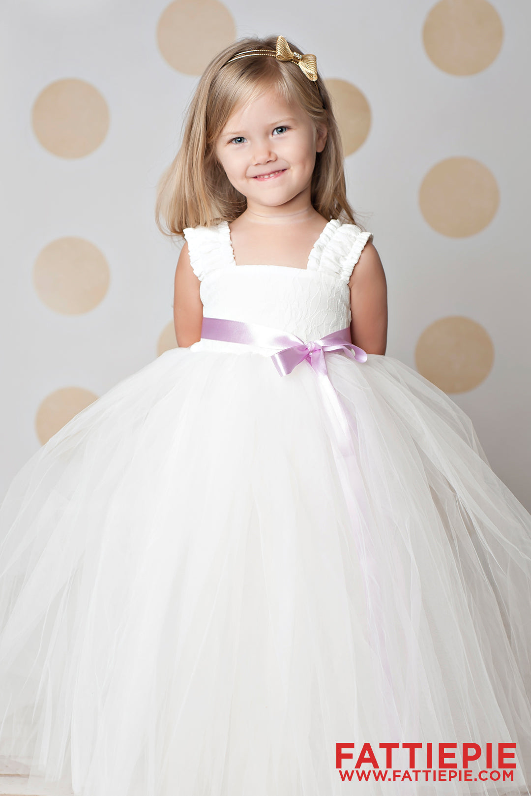Butterfly Sleeves Ivory Lace EML Flower girl dress