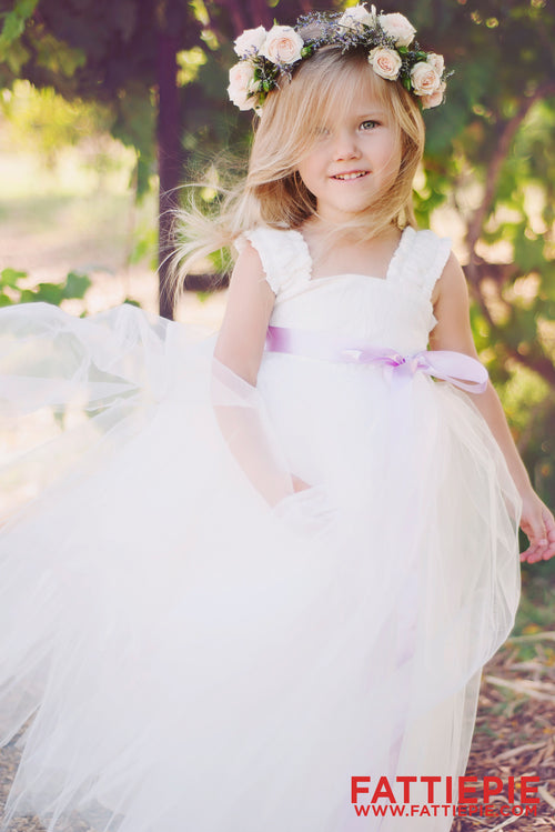 Soft Ivory Lace EML Flower girl dress