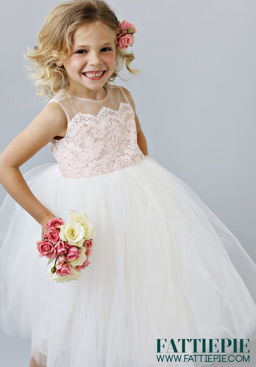 NEW ROSETTE-Flower girl dress