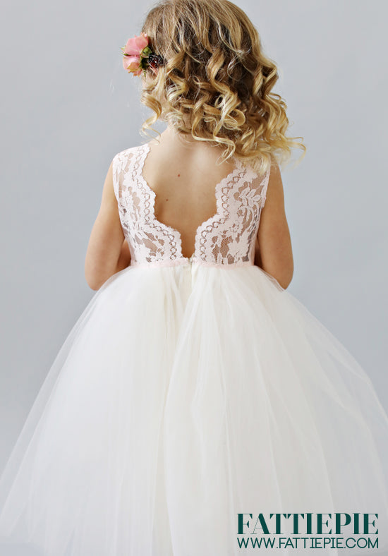 Lace tulle flower girl dresses