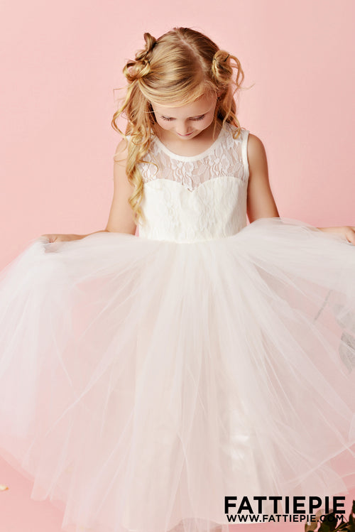 Ivory lace flower girl dresses
