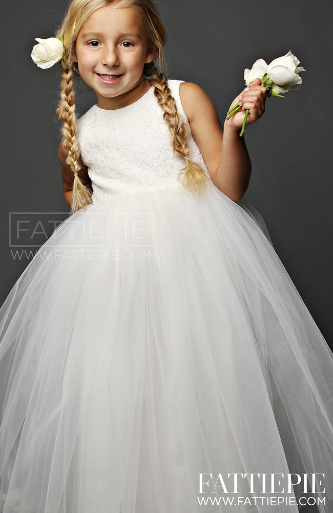 SNOW WHITE-Flower girl dress