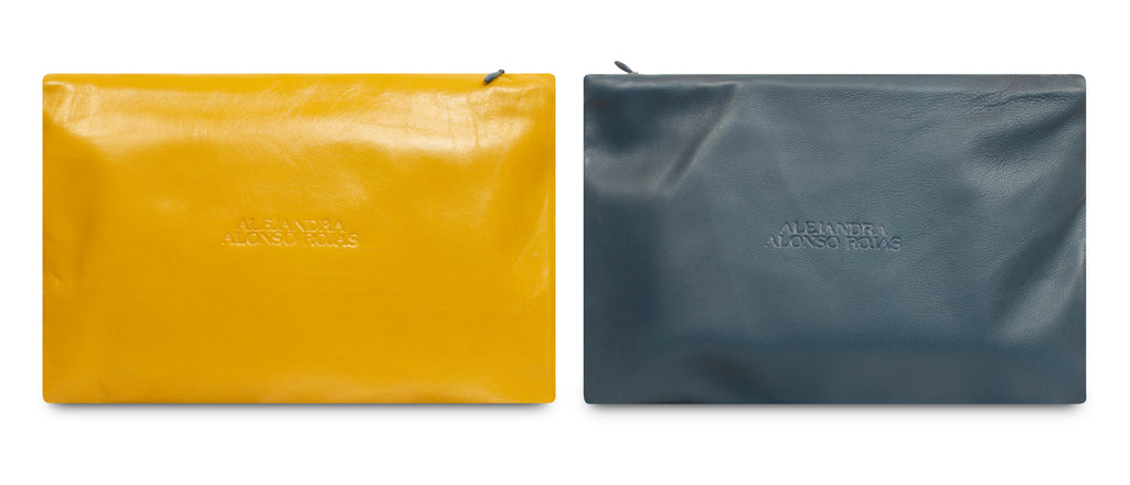 AURA BLUE AND YELLOW POUCH