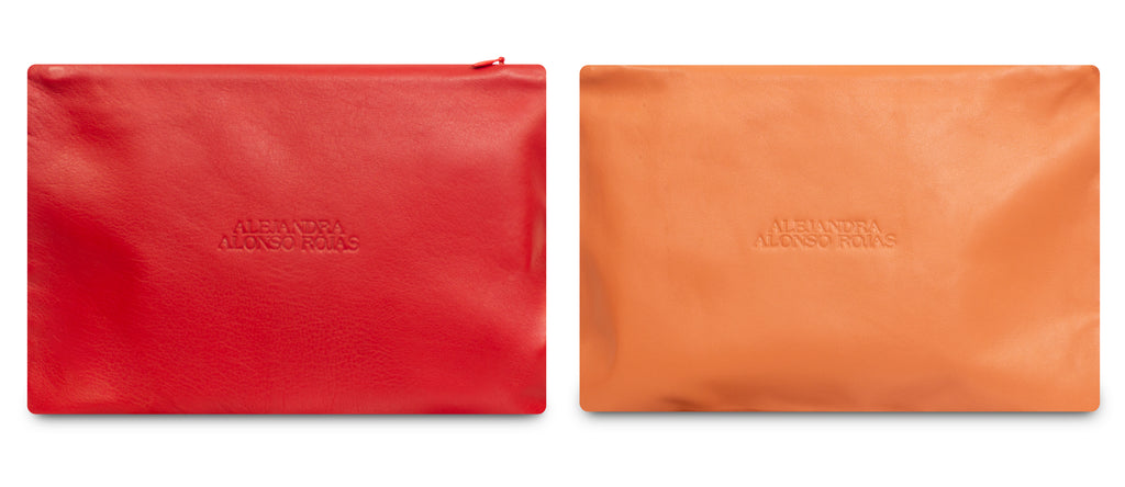 AURA CORAL AND RED POUCH