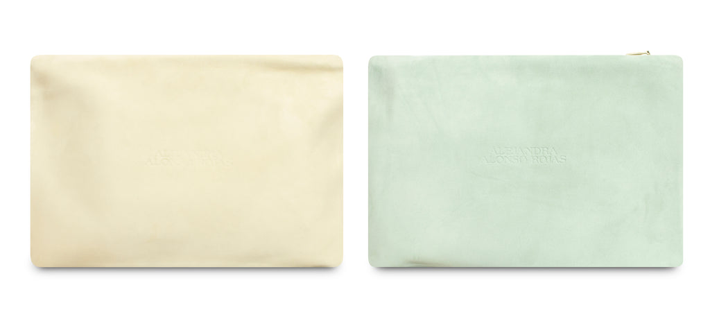 AURA MINT AND BEIGE POUCH