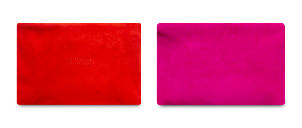 AURA RED AND FUCHSIA POUCH