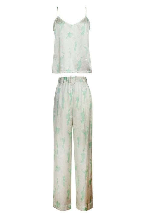 IBIZA MINT FEMALE PRINT TOP AND PANT SET