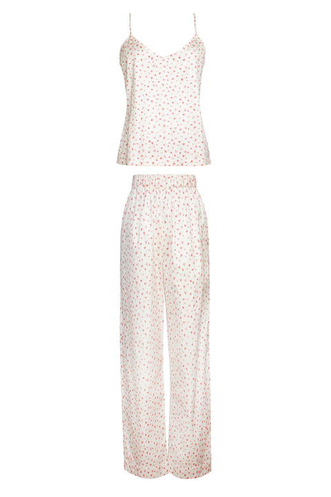 IBIZA PINK CARNATION PRINT TOP AND PANT SET