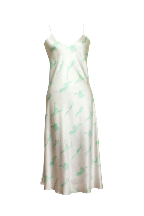 MENORCA MINT FEMALE PRINT SLIP DRESS