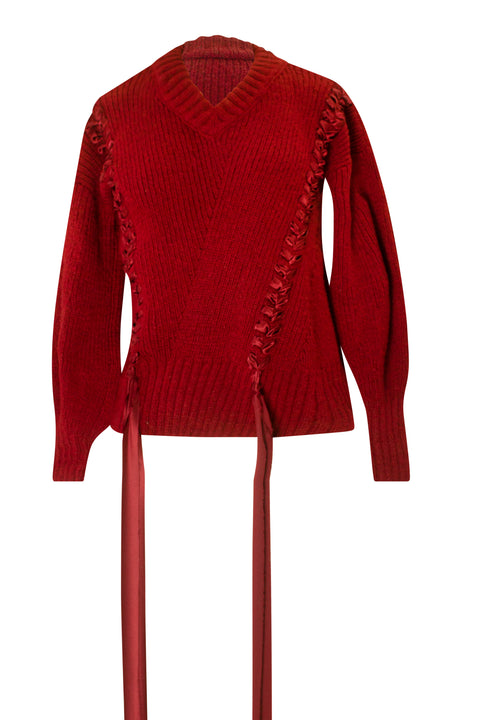 AITANA BURGUNDY SWEATER