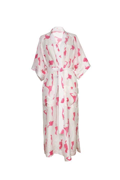 ISLA PINK FEMALE PRINT ROBE