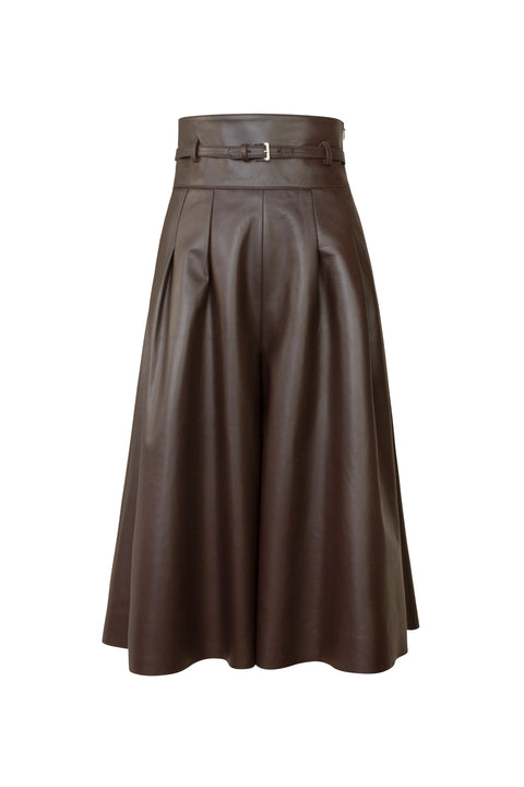 LUNA CHOCOLATE LEATHER CULOTTE