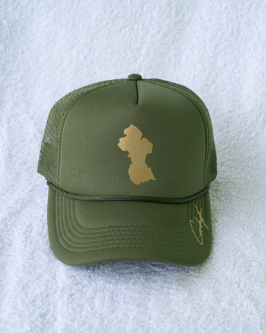 GUYANA GOLD TRUCKER HAT