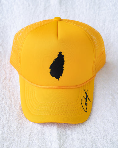 SLU BLACK LOGO TRUCKER HAT
