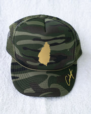 EXCLUSIVE SLU GOLD CAMO TRUCKER HAT