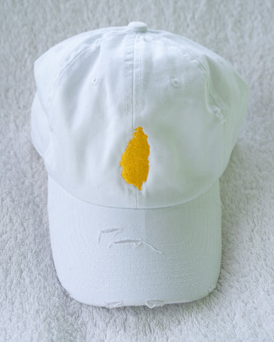 SAINT LUCIA DISTRESSED DAD HAT
