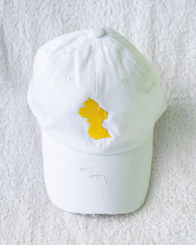 GUYANA DISTRESSED DAD HAT