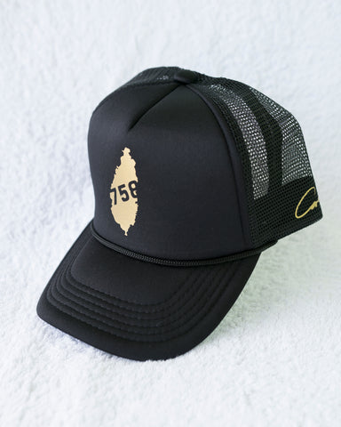 LIMITED SLU 758 GOLD TRUCKER HAT