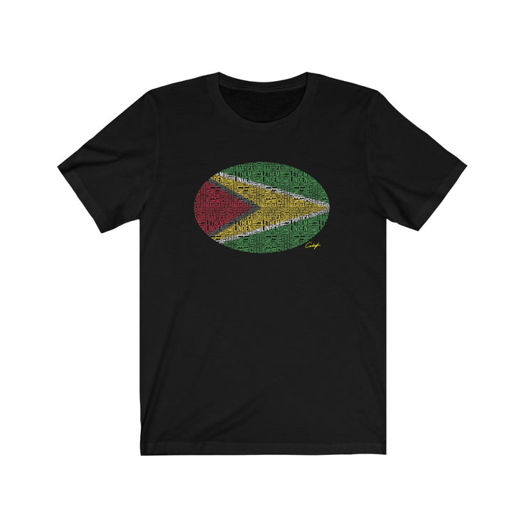 Guyana Flag Text T Shirt
