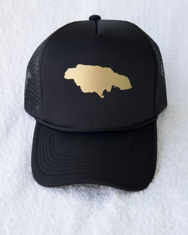 JAMAICA GOLD TRUCKER HAT