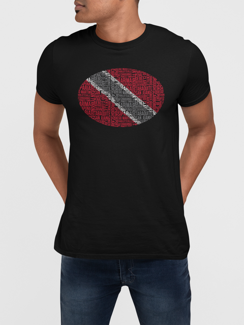 Trinidad Flag Text T Shirt