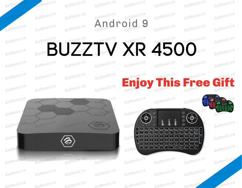BuzzTv XR 4500 4K Media Streaming Box