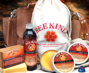 Bee Kind Beeswax Leather Care Kit
