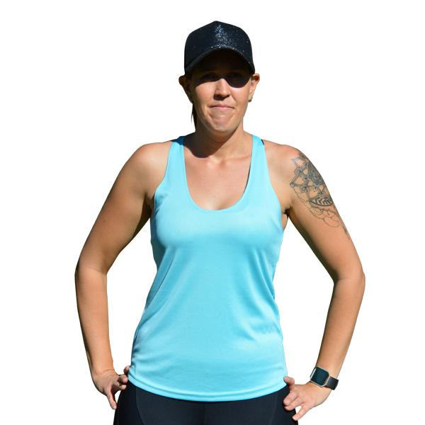 Baby blue sleeveless tank - Miss Active Apparel