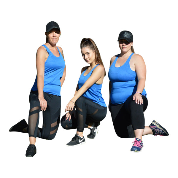 Blue mesh tank - Miss Active Apparel