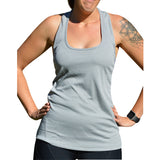 Light Grey Mesh Tank - Miss Active Apparel