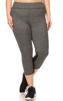 Plus Size Grey Leggings - Miss Active Apparel