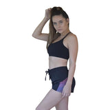 Stripped running shorts - Miss Active Apparel