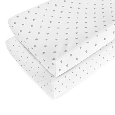 Organic Stars and Dots Changing Pad Cover
