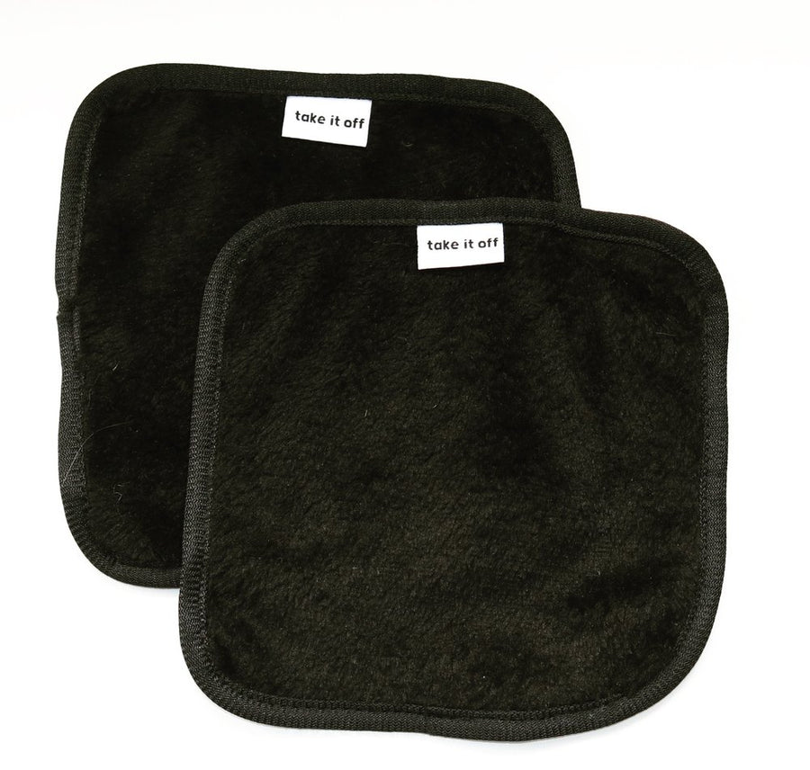 Take It Off Makeup Removal Towels Black Mini Two Pack