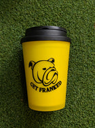 Get Franked Travel Cup, Yellow