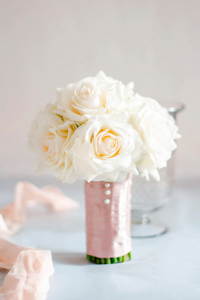"""Elegant Olivia"" Silk Wedding Bouquet"