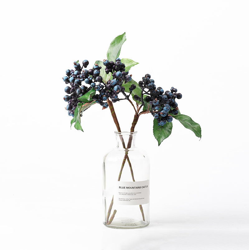 2pcs 10pcs Blueberry Blue Berries Fruits Real Touch Silk Flower Lana Byanca Floral
