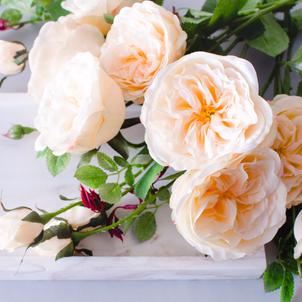 1pc 9pcs peach garden rose a grade silk flower